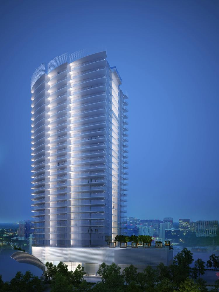 The 33-story luxury condo tower at the northwest corner of Wolf and McKinnon streets will feature sky-high living in the Harwood District. The tower is expected to get underway by this fall.