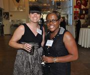 Barb Sagman of Florida Atlantic University and Faye Wright-Simpson of Broward Children's Center, one of the finalists.