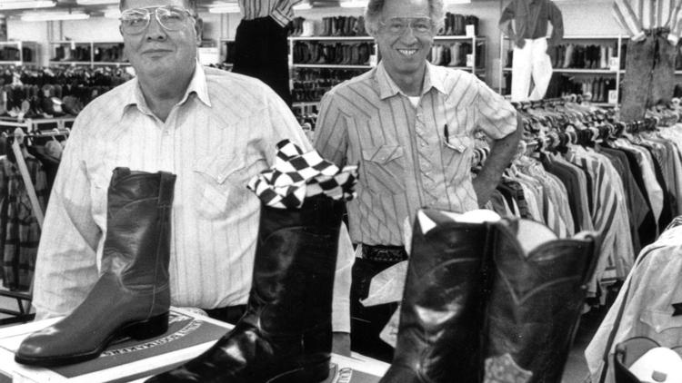 A file photo Jerry and Marvin Lebman, who operated a family owned Western shop in San Antonio before closing its doors in 1995.
