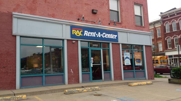 The Rent-A-Center on East Carson Street in Pittsburgh.