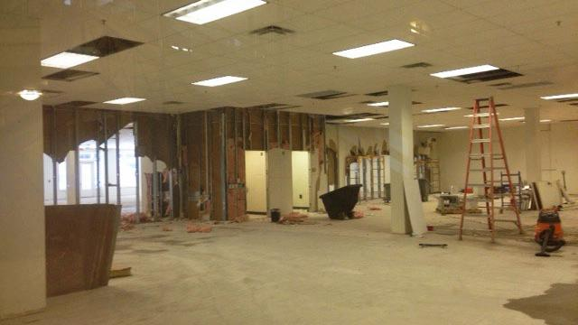 Construction started May 23 on Canvs, a new co-working space opening in the Church Street Exchange this summer. It's one of three planned new co-working spaces in Orlando.