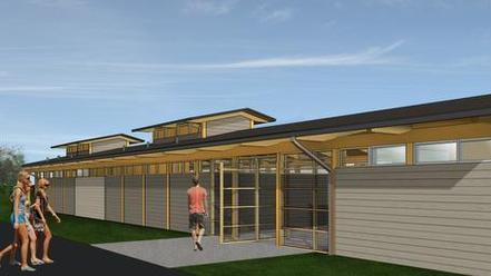 An artist's rendering of the YMCA Aquatics Center at Knightdale Station in Knightdale, which is expected to open by Memorial Day 2015.