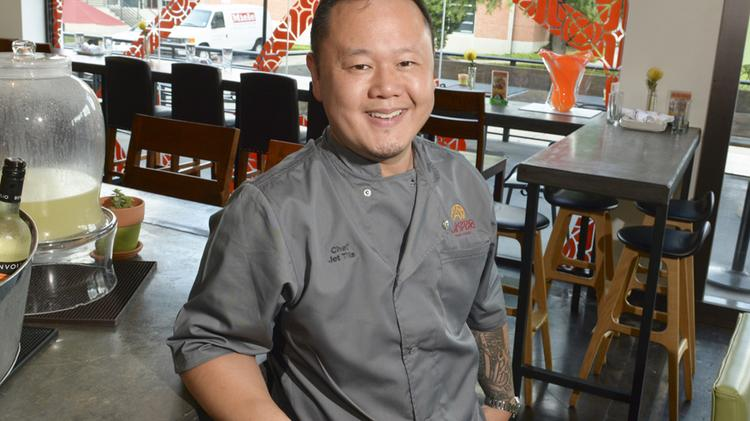 Chef Jet Tila in the Pakpao dinning room.