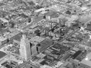 An aerial view from 1956 of R.J. Reynolds Tobacco Co.'s manufacturing and corporate operations, which dominated the eastern end of Winston-Salem's downtown for decades. Much of this area is now Wake Forest Innovation Quarter.