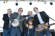 Members of the Kentucky Blue bluegrass band played for Chow Wagon visitors on Thursday.