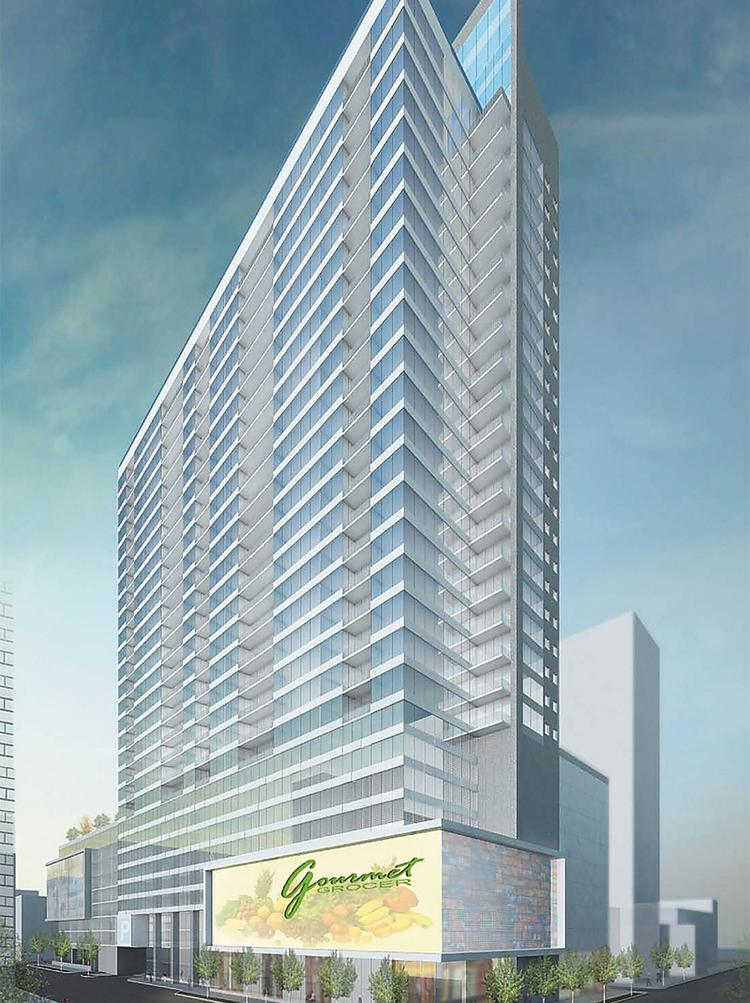 The city would build a parking garage at Fourth and Race, and Indianapolis developer Flaherty & Collins would build an apartment tower of unspecified size on top of it under a reworked deal being developed.