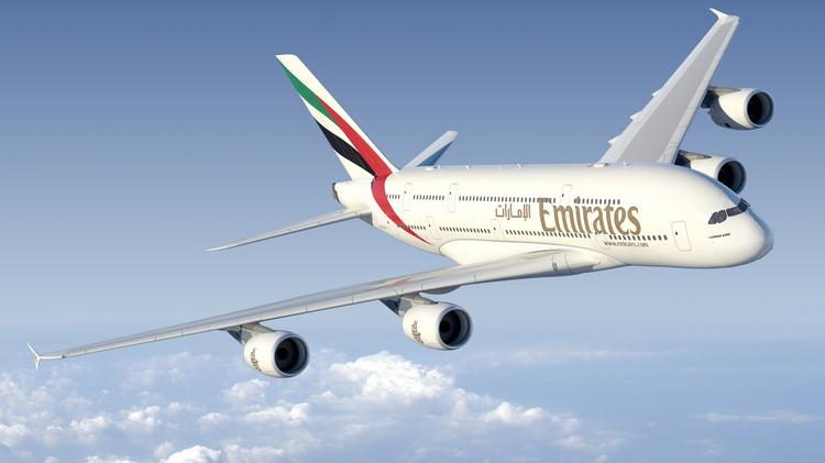 An Airbus A380 in flight.
