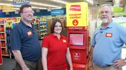 CVS store managers, from left, Rodney Brockhoff, who heads the store at 13th and Maize; Melissa Gallatin, who will oversee the store at 21st and Amidon that opens July 28; and Randy Jefferis, who will oversee the store at Central and Oliver opening July 7.