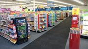 Store shelves top out at 5 feet, making it easy to see across the store and find where to go.