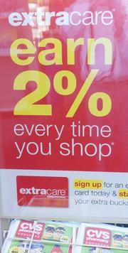 CVS offers a customer reward program where customers can earn 2 percent back and more that can be applied toward purchases.