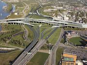 This rendering shows what the reconfigured Spaghetti Junction in downtown Louisville will look like when the Ohio River Bridges Project is completed.