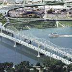Toll readers installed on the I-65 Kennedy Bridge