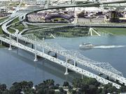 This rendering shows what the completed downtown bridge will look like when the Ohio River Bridges Project is completed.