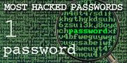The top most hacked passwords include password at No. 1.