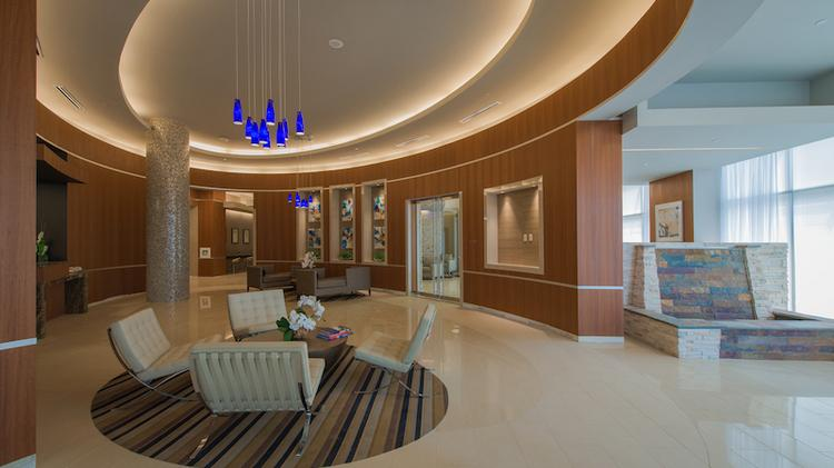The Whitley apartment building at 301 Brazos St. features a stunning light feature in the lobby, part of the Downtown Austin Living Tour. Click on the photo to see several other stops on the tour set for June 1.