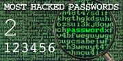 The top most hacked passwords include 123456 at No. 2.