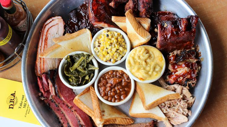 D.B.A. Barbecue's Whole House Platter, a mainstay on the menu since opening in 2009, has become one of the restaurant's signature platters and a popular catering offering.
