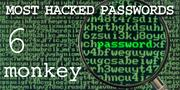 The top most hacked passwords include monkey at No. 6.