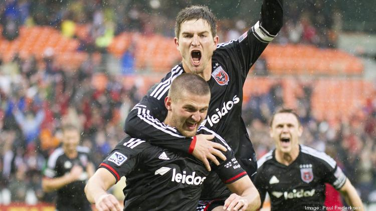 Leidos Holdings Inc. confirmed in February that it had signed on to be the official jersey sponsor of D.C. United. The Reston-based company's name is prominently featured on the front of the team's jersey, displayed throughout the stadium and printed on the team's marketing and media properties. Mandatory Credit: Paul Frederiksen-USA TODAY Sports
