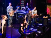 Bad Idea, the band made up of employees of Merrimack Pharmaceuticals, was the winner in the Battle of the Biotech Bands held May 15.