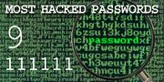 The top most hacked passwords include 111111 at No. 9.