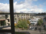 Zidell Yards, as seen through the window of The Emery apartment building, is comprised of 33 acres of prime South Waterfront land.
