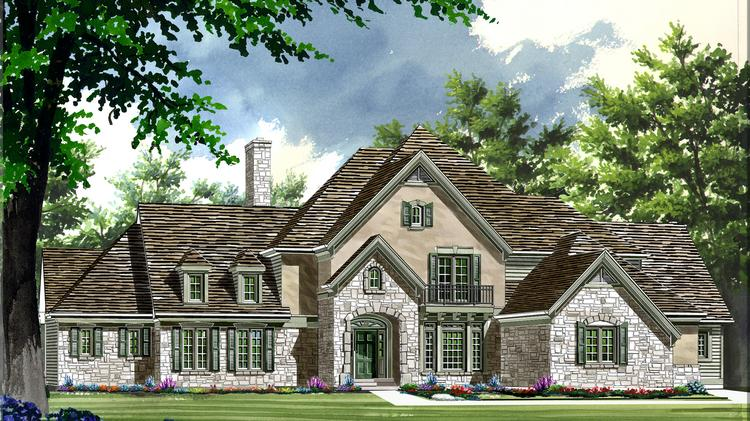 A rendering of one of the single-family homes McKelvey plans to build across from Bellerive Country Club.