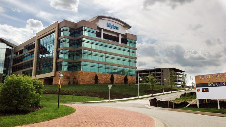 Mylan Inc.'s new headquarters at Southpointe, Cecil Township, PA. Photographed May 24, 2014.