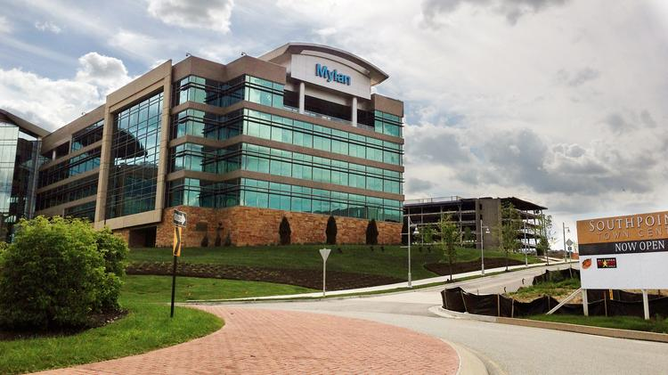 Mylan Inc.'s new headquarters at Southpointe, Cecil Township, near Pittsburgh.
