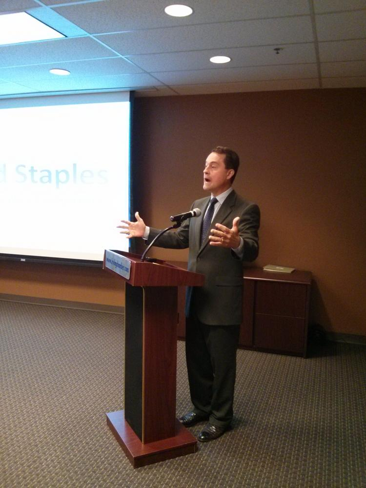 Todd Staples, Texas Agriculture Commissioner, spoke at the Greater Irving Las Colinas Chamber of Commerce.