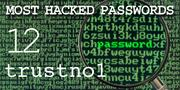 The top most hacked passwords include trustno1 at No. 12.
