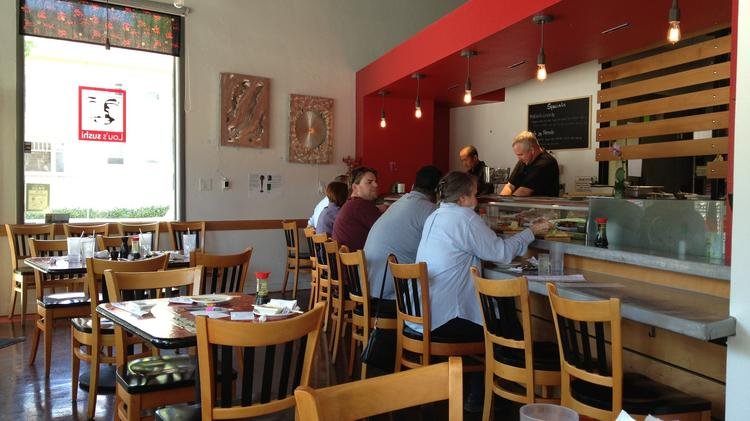 Seating is limited at Lou's Sushi, though the restaurant hopes to add some outdoor seating.