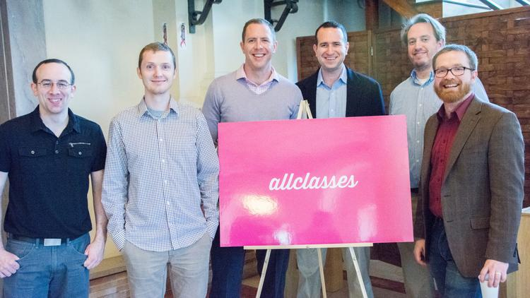 The Allclasses team at the company's launch last week.