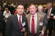 John Kim, left, and Steve Rubin, both of Harkins Builders.