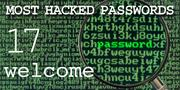 The top most hacked passwords include welcome at No. 17.