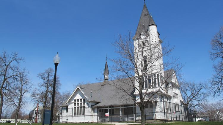 The historic chapel at the Soldiers Home campus is among the buildings that could be restored.