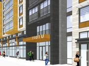 The U Street frontage of 1401 U, a new residential/retail building from Somerset Development and Jonathan Rose.