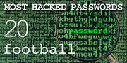 The top most hacked passwords include football at No. 20.