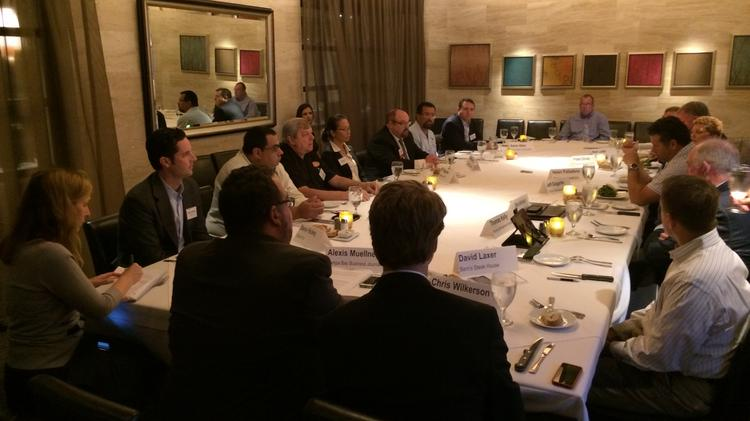 Tampa Bay Business Journal's Restaurant Industry Roundtable at Eddie V's Monday afternoon.