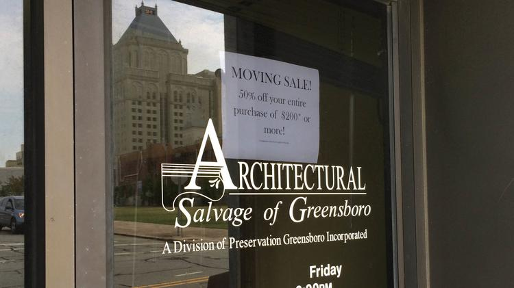 Architectural Salvage of Greensboro is moving out of its location at 300 Bellemeade St. by June 13. Click through this slideshow to get a glimpse of its estimated 20 tons of inventory.