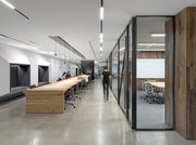 Like many tech firm offices, Uber's headquarters features an open layout and collaborative spaces.