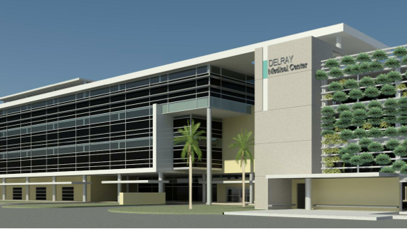 Delray Medical Center plans to build a four-story patient tower with 96 beds plus a parking garage.