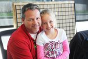 Subaru of Wichita Sales Manager Spencer Zimmer with his daughter, Alyssa, on Take Our Daughters and Sons to Work Day.