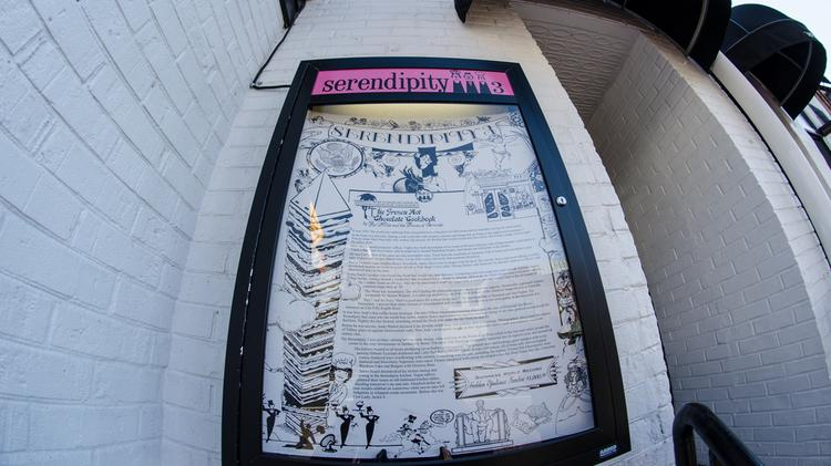 A picture of Serendipity 3's menu is shown outside its Georgetown location in Nov. 2012. The ice cream parlor closed June 3.