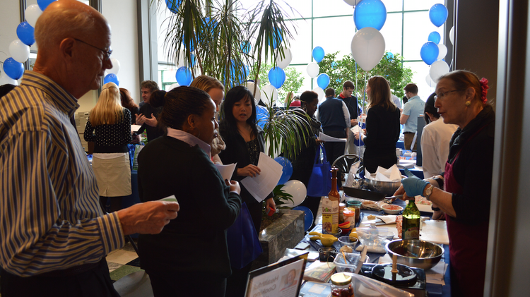 Rockville-based Beco Management hosts a health fair for the employees of tenants at one of its properties recently. The commercial real estate firm is one company that says its changing and increasing wellness offerings as a way to retain business tenants.