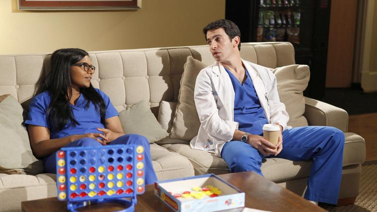 """Mindy Kaling and Chris Messina star as Danny and Mindy in Fox's comedy """"The Mindy Project"""" in this undated handout photo."""