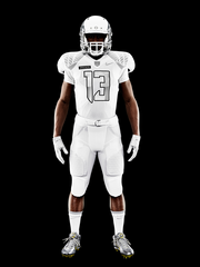 "The white version of the uniform is considered the ""away"" set. The design was inspired by Nike co-founder Bill Bowerman's time in the 10th Mountain Division of the U.S. Army. The division wore an all-white uniform and trained for arctic conditions."