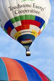 The Touchstone Energy Cooperatives balloon took off from Bowman Field.