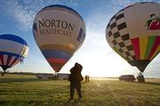 A field full of hot-air balloons is a great spectacle for photographers.