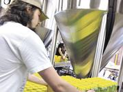 The canning process is handled by Land of the Sky Mobile Canning, an Asheville company.